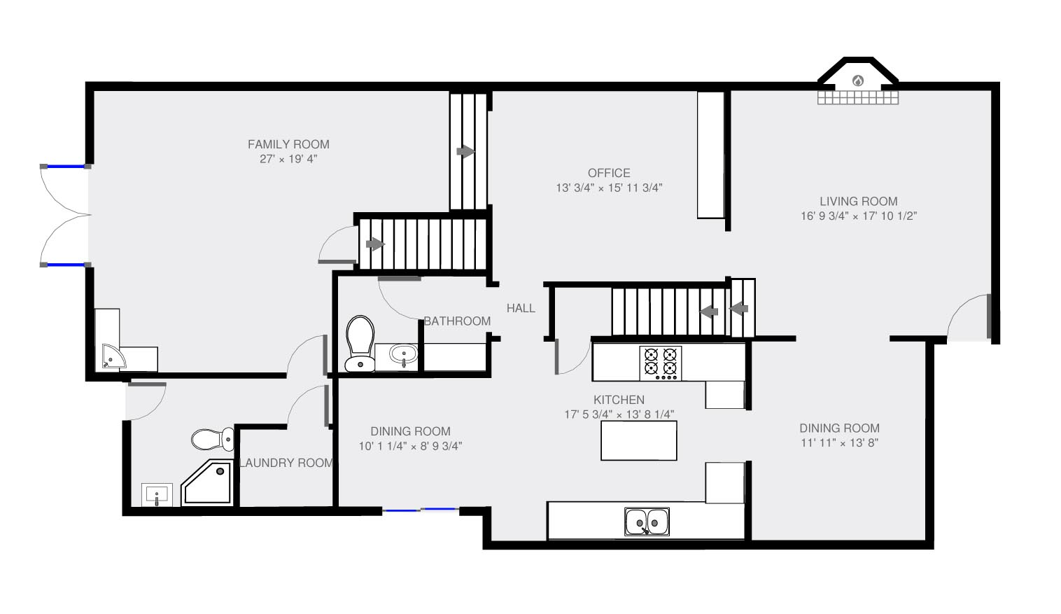 Standard House Measurements 2d Floor Plan With Dimension 1st Floor Jerry Sun